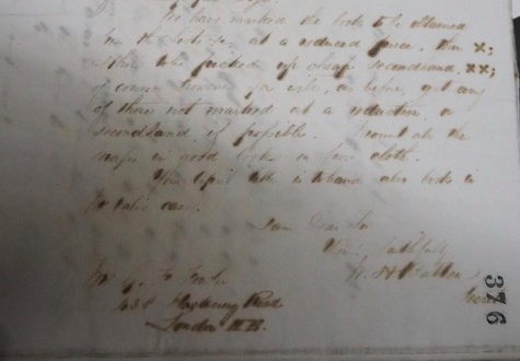 Extract from a letter addressed to G. F. Fowler by the secretary of the BMI